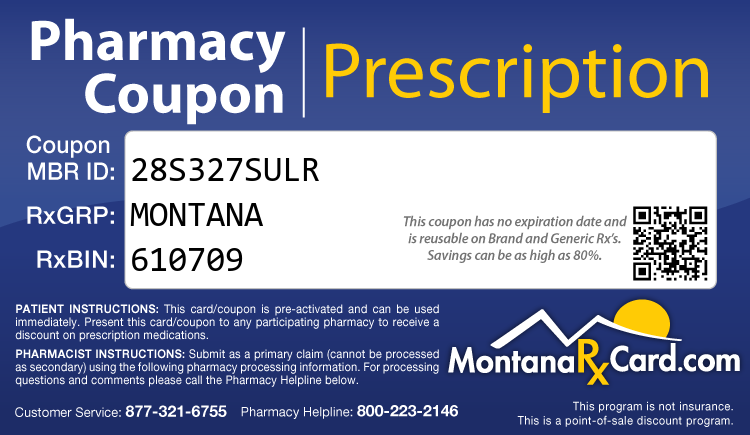 Montana Rx Card - Free Prescription Drug Coupon Card